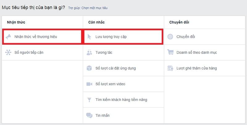 2 mục tiêu tiếp thị có hỗ trợ Facebook Canvas