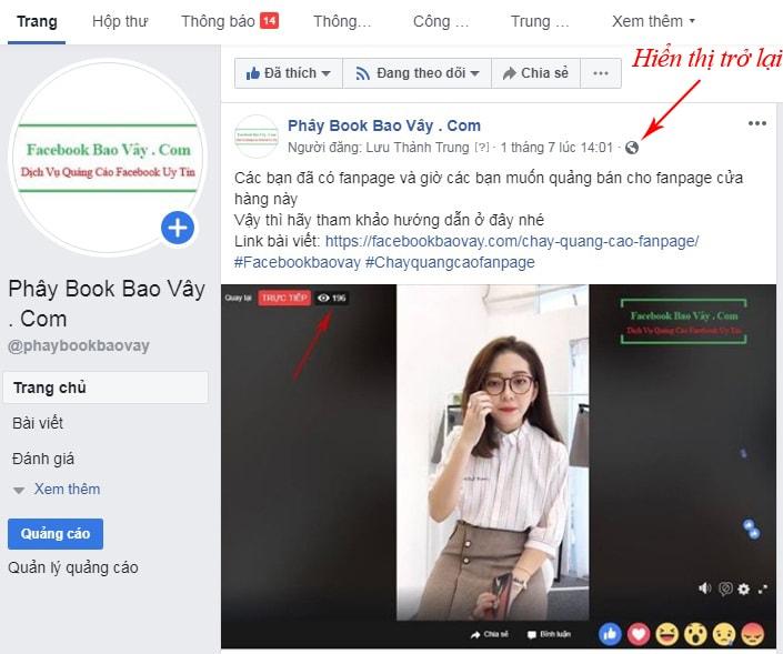 xem các bài viết đã ẩn trên facebook