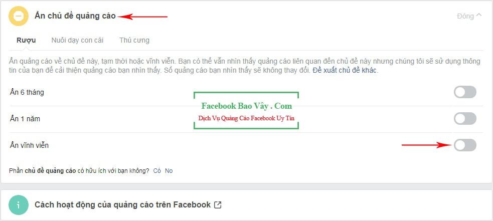 ẩn quảng cáo trên facebook