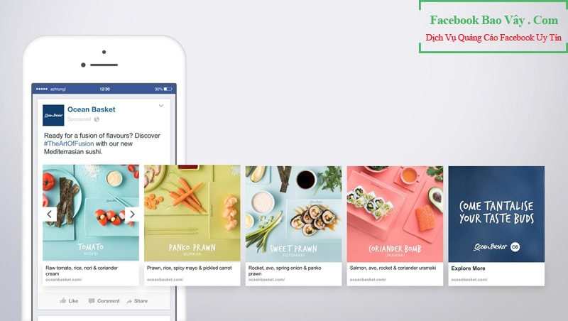 Các dạng quảng cáo Facebook Canvas