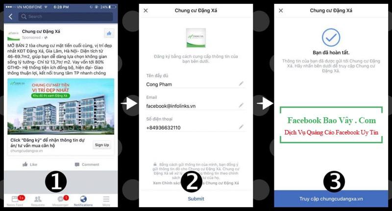 Các loại hình quảng cáo Facebook Lead