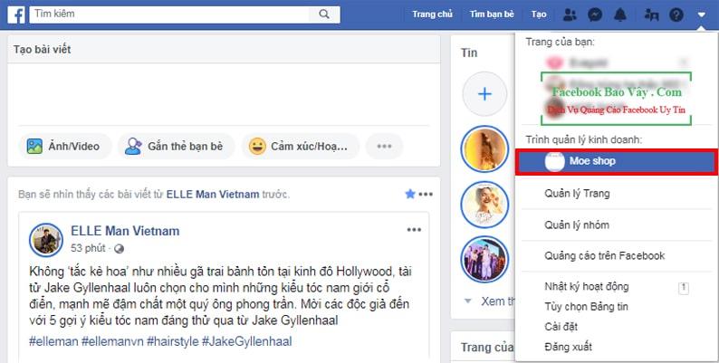 Truy cập Facebook Bussiness từ tài khoản cá nhân
