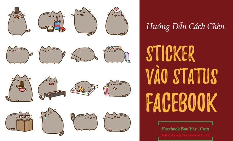 Hướng dẫn cách chèn icon & status vào status Facebook