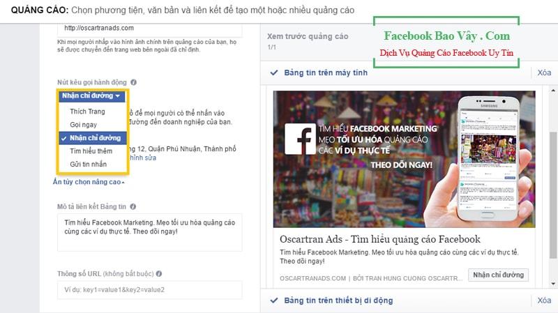 Hình thức quảng cáo doanh nghiệp địa phương trên Facebook