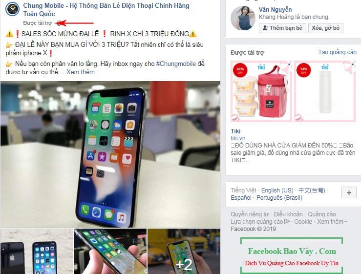 Hình thức quảng cáo bài viết trên Facebook