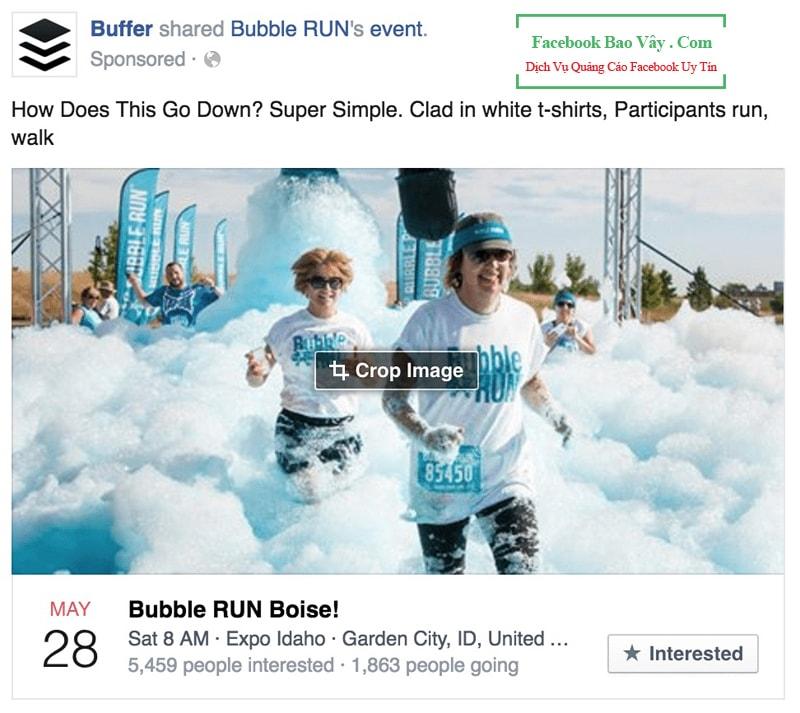 Hình thức quảng cáo Facebook Event Ads