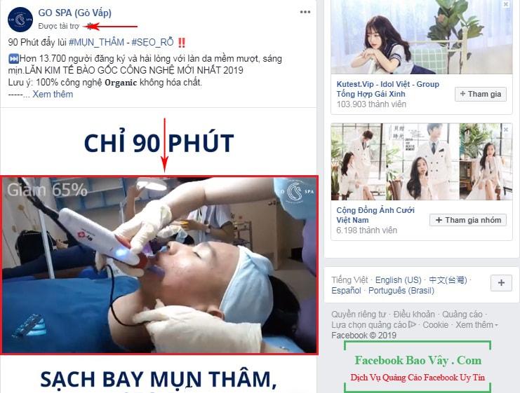 Hình thức quảng cáo video Facebook