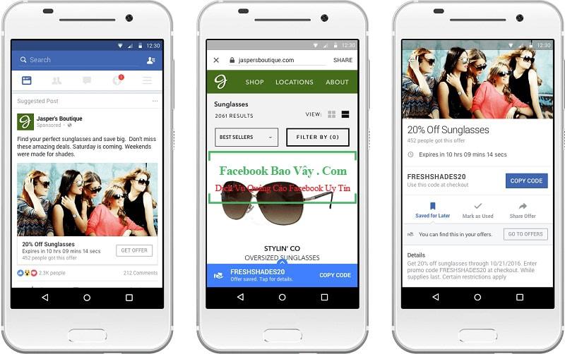 Hình thức quảng cáo nhận ưu đãi trên Facebook