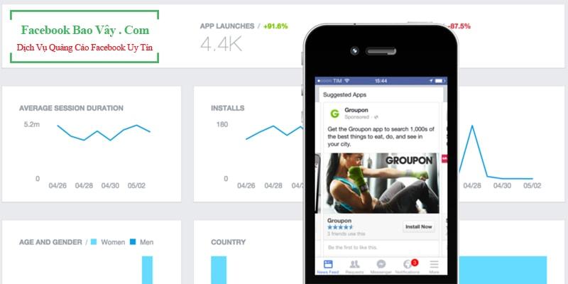 Hình thức quảng cáo ứng dụng trên Facebook