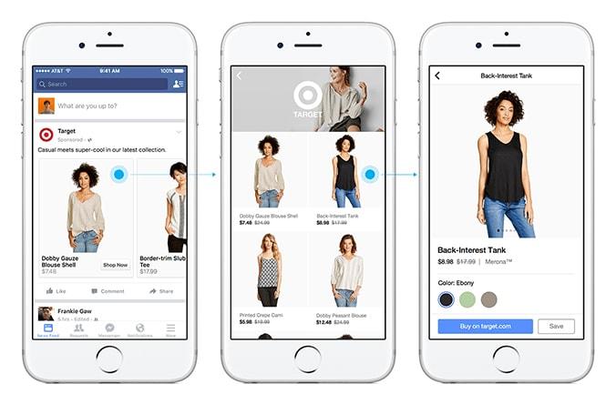 Dạng quảng cáo Canvas của Facebook