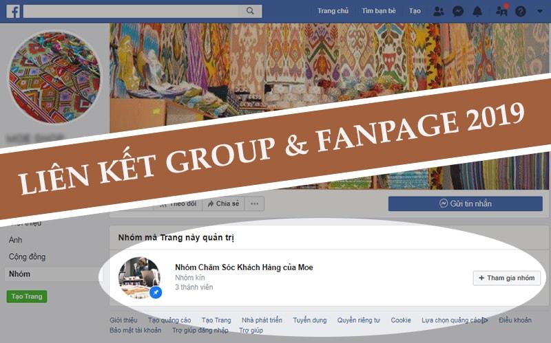 Hướng dẫn cách liên kết Nhóm với Fanpage Facebook 2019