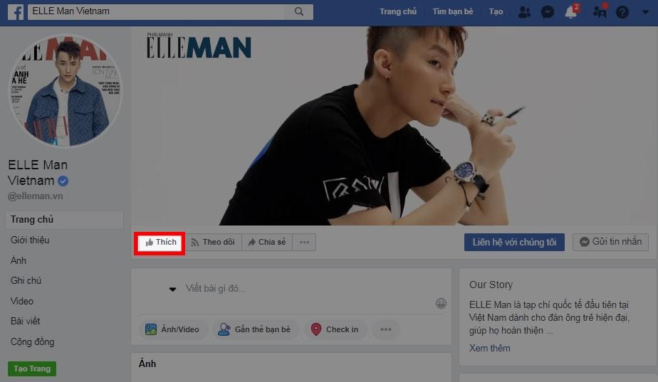 Nút like Fanpage trên Facebook là gì