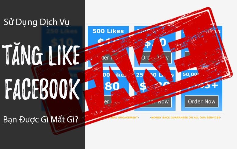 Mua like Fanpage Facebook là tốt hay xấu?