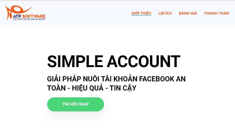 Cách sử dụng phần mềm Simple Account