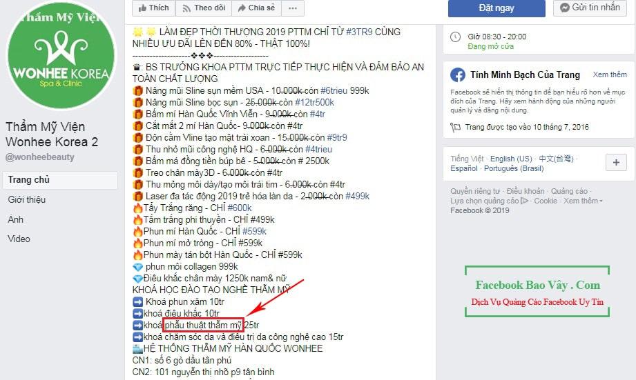 quảng cáo facebook không được xét duyệt