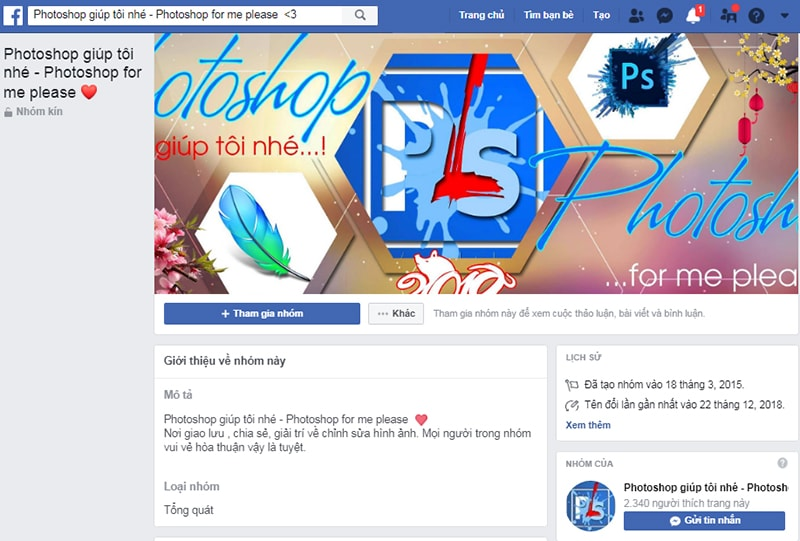 Tạo Group tăng like facebook