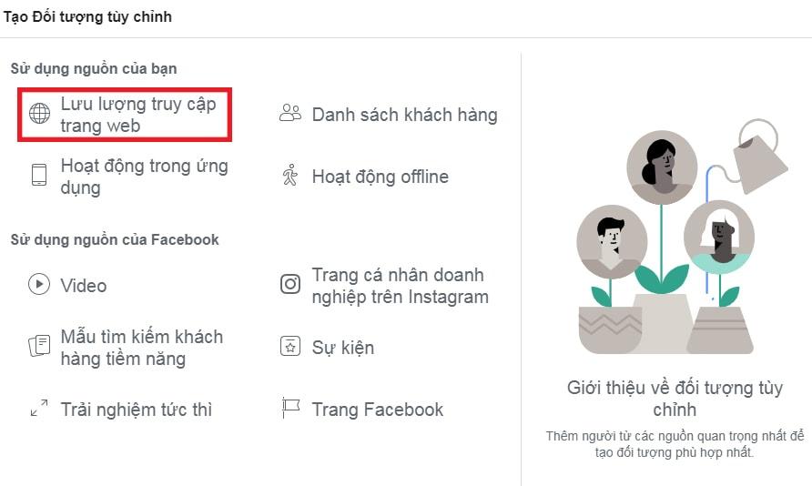 Nút lưu lượng truy cập trang Web của Facebook